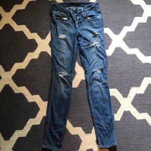 Genetic denim skinny ripped jeans, size 24